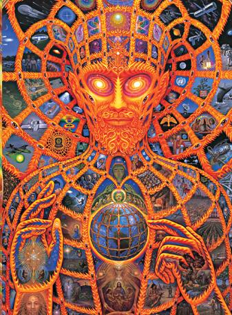 Cosmic Christ av Alex Grey